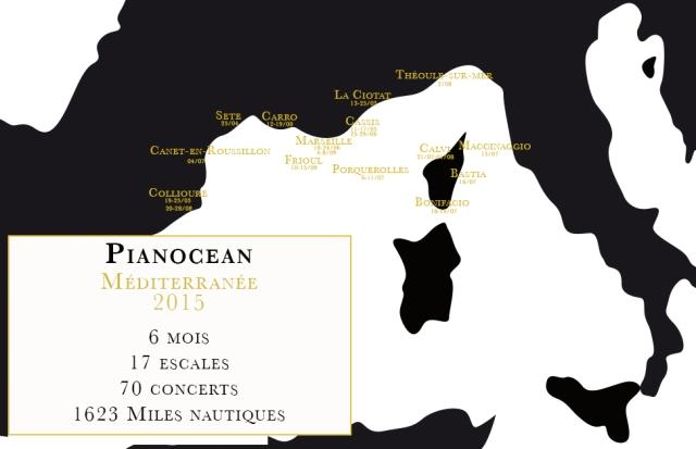 Carte Pianocean Méditerrannée